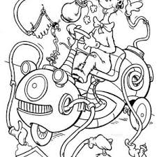 The Cat In Hat Cleaning Machine Coloring Page