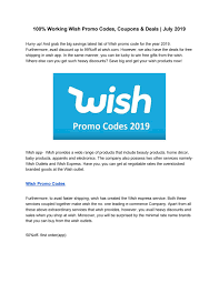100% Working Wish Promo Codes, Coupons & Deals | July 2019 ... 100 Working Verified Wish Promo Code W Free Shipping Discounts Coupons 19 Ways To Use Deals Drive Revenue List Over 50 For 2019 Off An Shopko Coupon Code 10 Off Naughty Coupons Him Pin On Shopping Hack Existing Customers Sept Philosophy Shop Mlb Bake Me A Wish Promo Free Shipping Best Buy Seasonal Amazon Uae Codes Offers Up 75 Coupon 70 Off New Trenidng For Sep Fanjoy