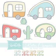 Retro Campers Vector Illustrations 24 Images By Rachelwhitetoo