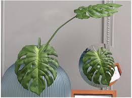 großhandel künstliche blätter tropical split leaf monstera deliciosa blattpflanze diy flower craft philodendron gefälschte palmblätter in green vine