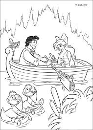 The Ball Ariel And Prince Eric On A Boat