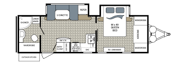 Travel Trailer Floor Plans With Bunk Beds by Kodiak Floorplans And Pictures