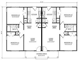 Images Duplex Housing Plans by Duplex Plan Chp 27564 At Coolhouseplans