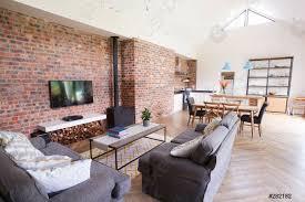 Home Interior Pics Foto Auf Lager Home Interior Mit Offener Küche Lounge Und Essbereich