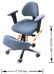 Swedish Kneeling Chair Amazon by Ergonomic Posture Kneeling Chair With Adjustable Back And Armrests