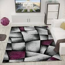 designer teppich lila grau modern dicht gewebt i9445 vimoda homestyle