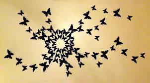 3D Paper Butterfly Wall Art Butterflies Nursery