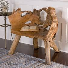 Teak Root Chair Artistically crafted of unique reclaimed Teak wood