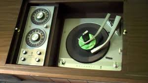 Magnavox Record Player Cabinet Astro Sonic by 1963 Motorola Coffee Table Stereo Record Player Demonstration