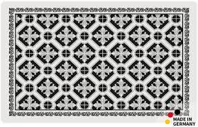 teppichläufer küchenläufer kacheln retro schwarz weiß läufer 50x80 cm waschbar