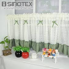 cantonniere pour cuisine demi rideau fenêtre rideau bowknot dentelle décoration floral pour