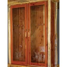 Wooden Gun Cabinet With Etched Glass by Rustic Gun Cabinet With Locking Doors