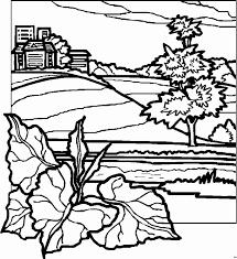 Landscape Coloring Page Printable