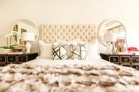 White Velvet King Headboard by Dorothy Draper Chests Contemporary Bedroom Sally Wheat Interiors