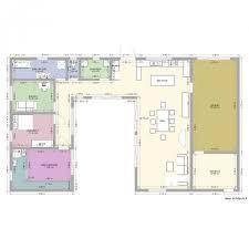 plan maison en u maison en u piscine plan 10 pièces 181 m2