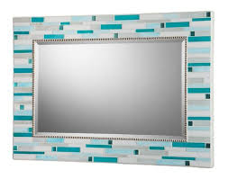 Blue Mosaic Bathroom Mirror by Hand Crafted Mosaic Bathroom Mirror Signature Collection By Opus