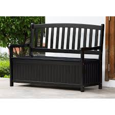 new storage box bench patio furniture fir wood garden yard