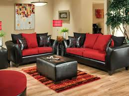 Black And Red Living Room Decorations by Interesting Red And Black Living Room Set Living Red Living Room