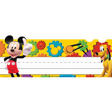 Funny Desk Name Plates by Mickey Mouse Clubhouse Mickey Gears Tented Name Plates