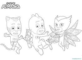 Coloring Pages Pj Masks In For Best Of News