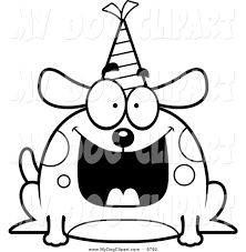 happy birthday dog clip art hats