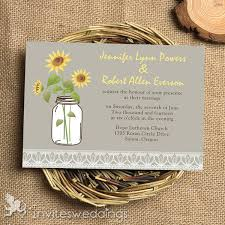 Grey Rustic Sunflower Lace Wedding Invitations IWI338