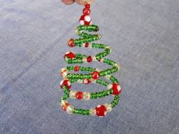 The First Ornament Ive Made For Miss Abigails Hope Chest This Year Is A Spiral Beaded Christmas Tree Design Concept Extremely Simple
