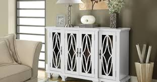 White Color Of The Cabinet Tables For Living Room Representing An Elegant Idea Best
