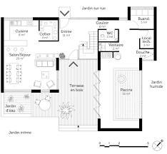plan de maisons gratuit 1 plan maison en u avec piscine ooreka