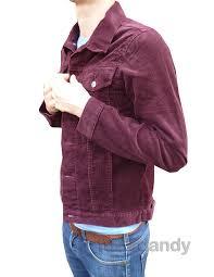 mens corduroy denim jacket indie burgundy red purple coat at