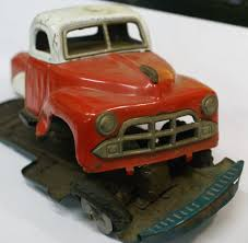 Japanese Toy Truck : Grain Hauler Tin Parts Car. 12' – Classic Tin ...