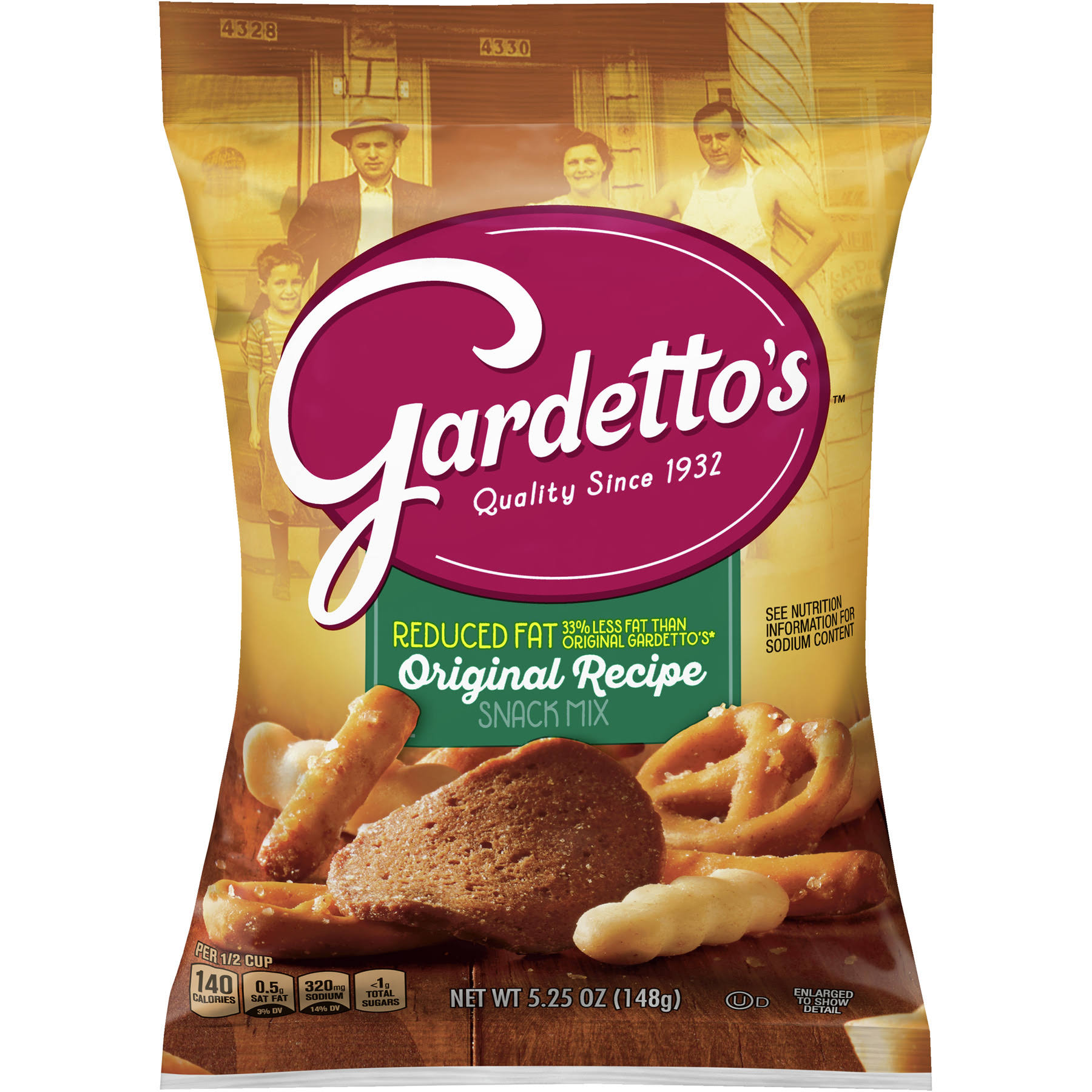 Gardettos Snack Mix, Reduced Fat, Original Recipe - 5.25 oz