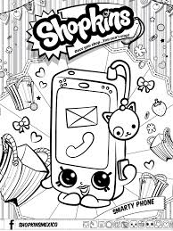 Shopkins Smarty Phone Coloring Page
