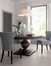 Simple and clean design in this dining room makes the vibrant chair