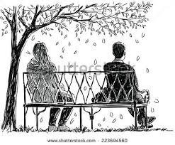 Pair Park Bench Stock Vector Shutterstock