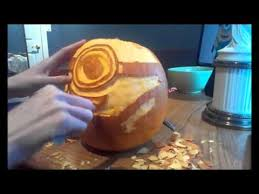 Minion Pumpkin Carving Designs by Speed Pumpkin Carving Gru U0027s Minion Despicable Me Youtube