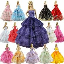 Sungpunet Doll Clothes Party Gown Outfits And Accessories For Barbie