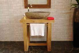 waschtisch unterschrank badezimmer teakholz möbel