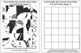 Printables Grid Art Worksheets Safarmediapps Pop Rosa Parks Free Integration Project For