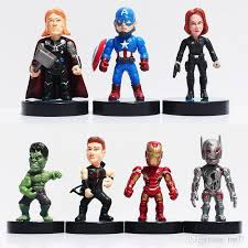 2018 The Avengers 2 Age Of Ultron Hawkeye Black Widow Hulk Iron Man Thor Captain America Pvc Action Figures Toys 8cm From Top77 1498