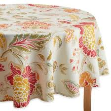 Round Patio Tablecloth With Umbrella Hole by Buy 70 Inch Round Tablecloth From Bed Bath U0026 Beyond
