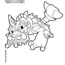 Skylanders SWAP FORCE Coloring Pages Blast Zone Page Zoo Lou Slobber Tooth