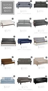 Living Room Sets Under 600 Dollars by Sofa Roundup Under 600 Emily Henderson Sofas U0026 Chairs