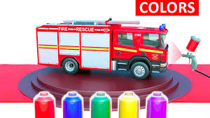 Learn Vehicles Colors For Kids - Fire Truck Police Car & Bus - Cars ...