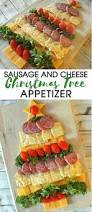 Rice Krispie Christmas Trees Recipe by Amazing Holiday Cheese Cracker And Sausage Christmas Tree Appetizer
