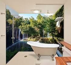 details zu 3d wasserfall tapete badezimmer drucken abziehbild mauer deco aj wallpaper de