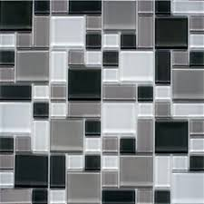 Home Depot Wall Tiles Self Adhesive by Instant Mosaic Peel And Stick Gray And White 12 In X 12 In X 6