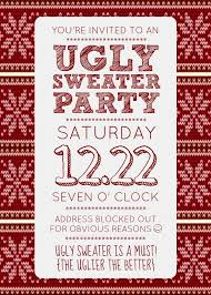 Adcabcccbcc 2017 Ugly Sweater Christmas Party Invitations Template