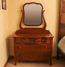 Vintage Tiger Oak Dresser by Antique Quarter Sawn Oak Dresser With Mirror Ebth
