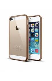 iphone 5 5s coque bumper transparent gold i phonik